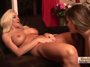 Lesbian mature couple has fun with a big..