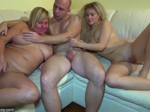 Young girl fucking in threesome with..