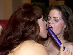 Busty mature lesbians licking pussy and..