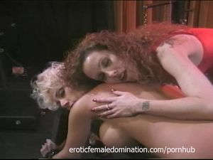 Busty dominatrix surrenders herself to a..