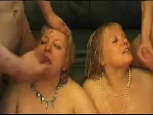 Two mature blonde chubby gals in hot..