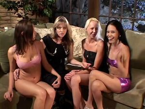 Group of gorgeous babes have steamy..