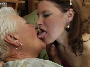Granny licks ass and fucks young cute..