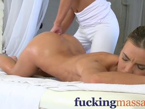 Massage Rooms Mature lesbian has a..